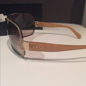 Prada Accessories - Prada Gold Velvet Rope Sunglasses - Made in Italy